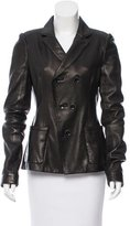 Balenciaga Leather Belted Jacket