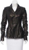 Balenciaga Leather Double-Breasted Jacket