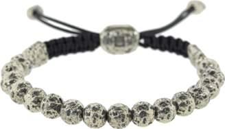 John Varvatos Distressed Silver Bead Bracelet