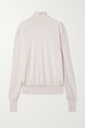 The Row Andrett Cashmere Turtleneck Sweater - Ivory