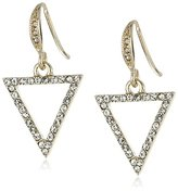 "ABS by Allen Schwartz Black and White"" Triangle Drop Earrings"