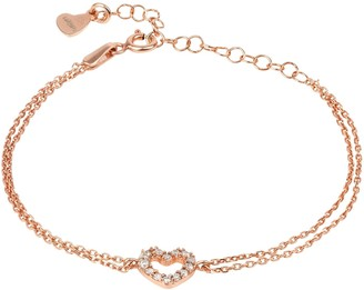 Latelita Heart Mini Cz Double Strand Bracelet Rosegold
