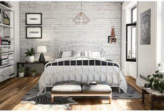 Novogratz Bushwick Platform Bed Size: Queen, Color: Gold
