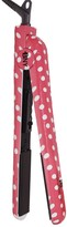 Brilliance New York Diamond Technology 1.25 Ceramic Flat Iron - Pink & White Polka Dots