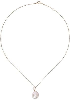 Mizuki 14kt yellow gold Sea of Beauty freshwater pearl chain necklace