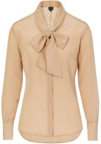 BEIGE Sophie Cameron Davies Silk Bow Blouse