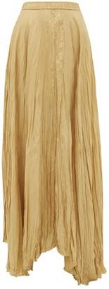 Joseph Nanco Crinkled Silk-habotai Maxi Skirt - Womens - Camel
