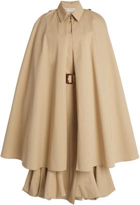 J.W.Anderson Cape-Detail Cotton Trench Coat