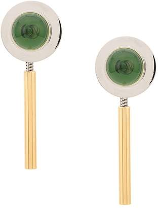 Marni disk earrings with drop back