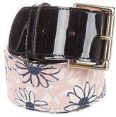 Nina Ricci Woven Floral Belt