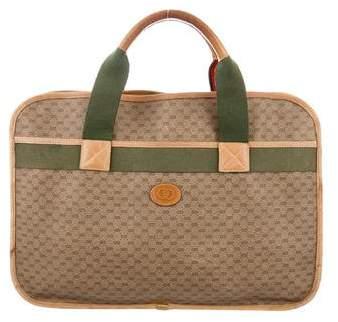 Gucci Vintage GG Web Briefcase
