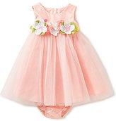 Rare Editions Baby Girls 3-24 Months Flower-Appliqued-Waist Dress