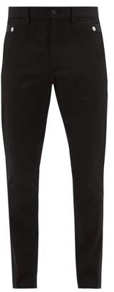Burberry Slim-fit Cotton Trousers - Mens - Black
