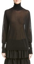 Simone Rocha Women's Sheer Mock Neck Sweater