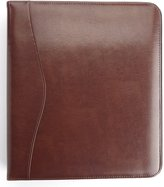 """Royce Leather ROYCE Executive 2"""" 2 Inch D Ring Binder in Leather - British Tan"""