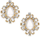Kate Spade 14k Gold-Plated Crystal Halo Stud Earrings