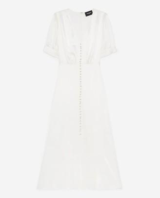 The Kooples Long ecru dress with short sleeves