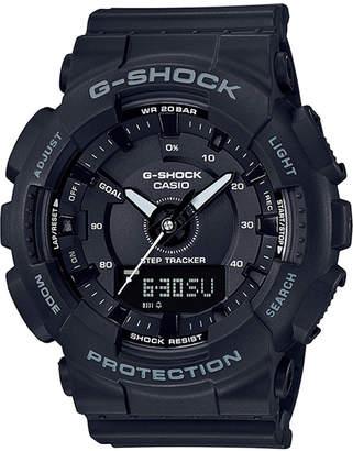 G-Shock Women Analog-Digtal Black Resin Strap Step Tracker Watch 50mm