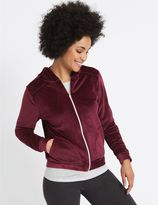 Marks and Spencer Velour Hooded Neck Long Sleeve Sweatshirt