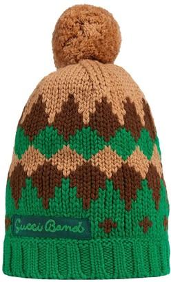 Gucci Kids Geometric Knitted Hat