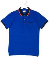 Armani Junior Teen contrast-trim polo shirt