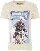 Barbour Steve Mcqueen Burntout Contrast Sleeve Crew