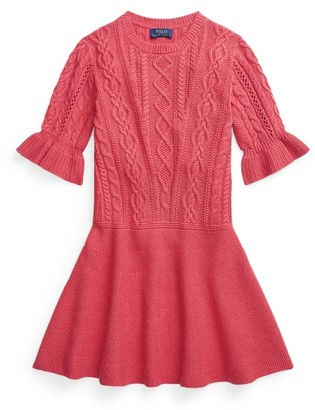 Ralph Lauren Aran-Knit Cotton Jumper Dress