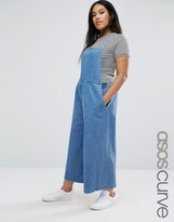 Asos Denim Cropped Minimal Overall