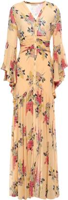 By Ti Mo Bytimo Ruched Floral-print Crepe Maxi Dress