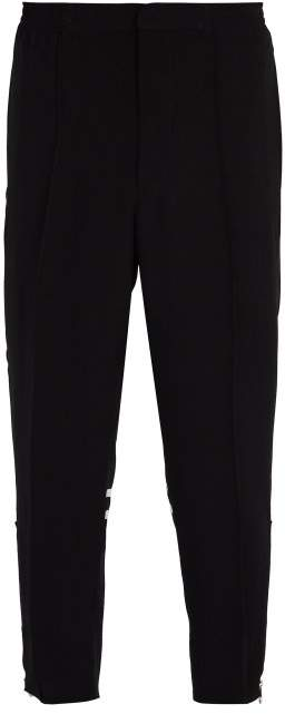Alexander McQueen Ankle Zipped Cropped Track Pants - Mens - Black