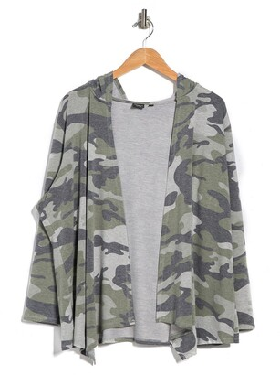 Cyrus Camo Print French Terry Hoodie Jacket