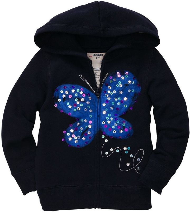 Osh Kosh butterfly graphic hoodie - toddler