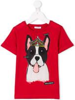 Dolce & Gabbana crowned dog T-shirt