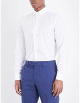 Richard James Floral-embroidered cotton shirt