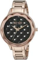 SO & CO New York 5255.4 Women's Madison Dress Analog Watch with Dial