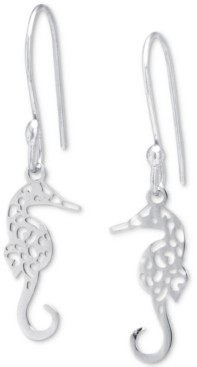 Giani Bernini Filigree Seahorse Drop Earrings in Sterling Silver, Created for Macy's