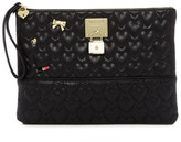 Betsey Johnson Be Mine Faux Leather Pouch