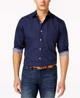 Club Room Dot-Print Long-Sleeve Stretch Shirt, Created for Macy's