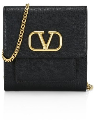 Valentino VLogo Leather Crossbody Bag