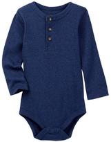 Joe Fresh Henley Bodysuit (Baby Boys)