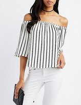 Charlotte Russe Striped Off-The-Shoulder Top