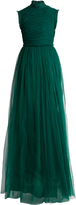Rochas Open-back ruched tulle gown