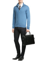 Brioni Wool Turtleneck Pullover with Zipper