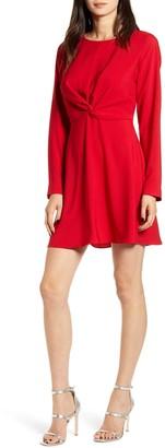 Chelsea28 Twist Front Long Sleeve Dress