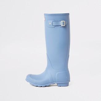 Hunter River Island Womens Originals Blue wellington boots