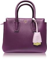 MCM Milla Park Avenue Mystic Purple Leather Mini Tote