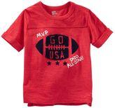 "Osh Kosh Toddler Boy Rolled Short Sleeve ""MVP"" Football Tee"