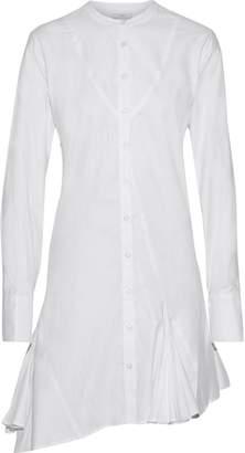 Tome Asymmetric Pleated Cotton-poplin Mini Shirt Dress