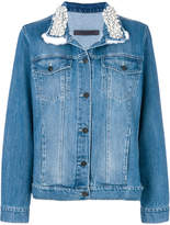 Simonetta Ravizza embellished collar denim jacket