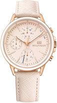 Tommy Hilfiger Women's Sophisticated Sport Blush Saffiano Leather Strap Watch 40mm 1781789